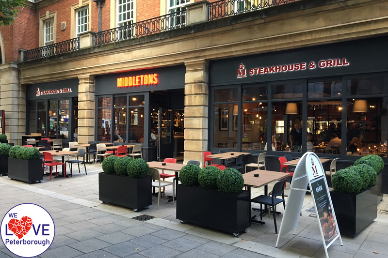 Places to eat in Peterborough: Middletons Steak House - We Love Peterborough