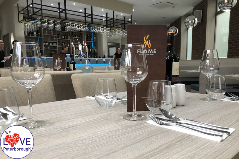 Places to eat in Peterborough - Flame Bar & Restaurant - We Love Peterborough