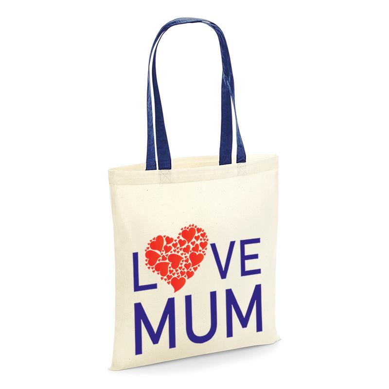 Tote shopping bag love mum