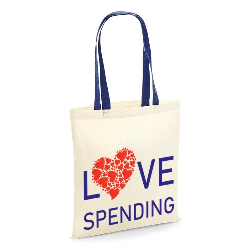 tote shopping bag love spending