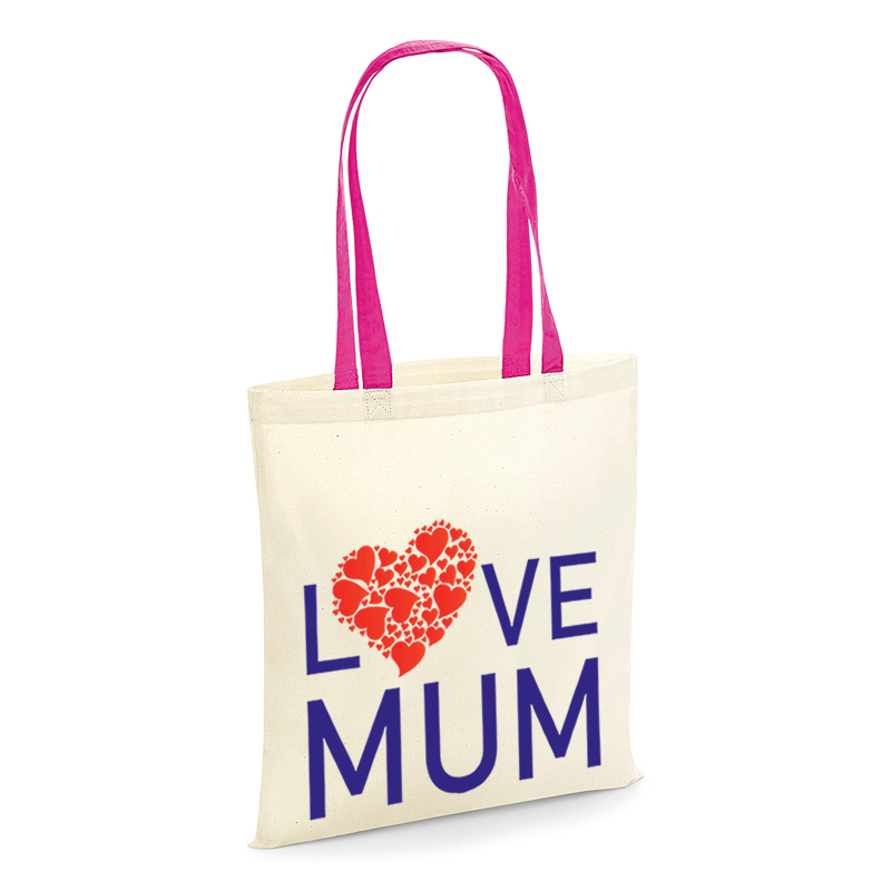 tote shopping bag with love mum