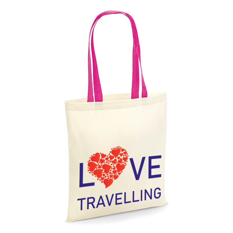 Love Travelling tote shopping bag