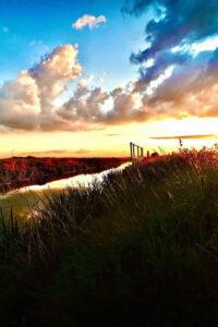 Nathan Evans - Sunset over Whittlesey Dyke