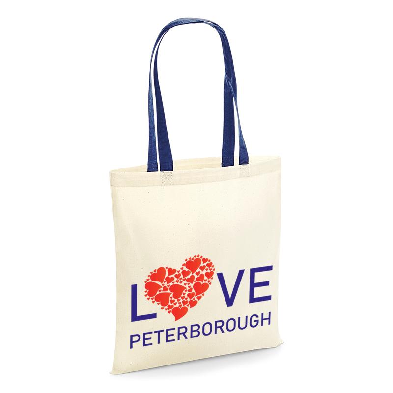 tote shopping bag love peterborough