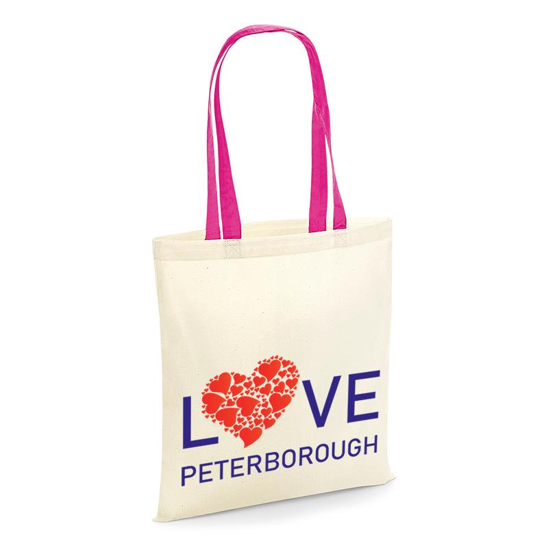 We Love Peterborough - Love Peterborough Tote bag with pink handles